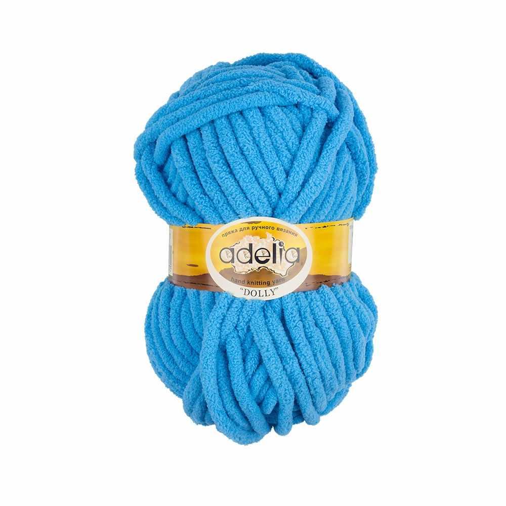 Пряжа Adelia Dolly 11 ярко-голубой
