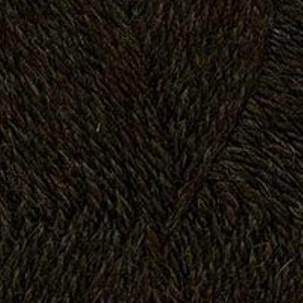 Пряжа Троицкая Деревенька Цвет.3657 Темно-коричневый