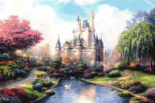 901733 Средневековый замок