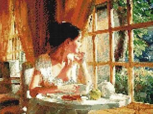 902251 Завтрак на веранде