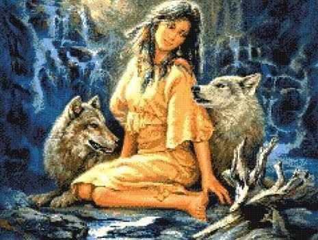 905333 Девушка с волками