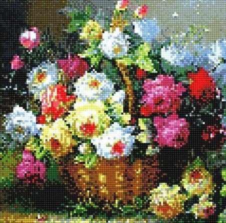908301 Корзинка с цветами