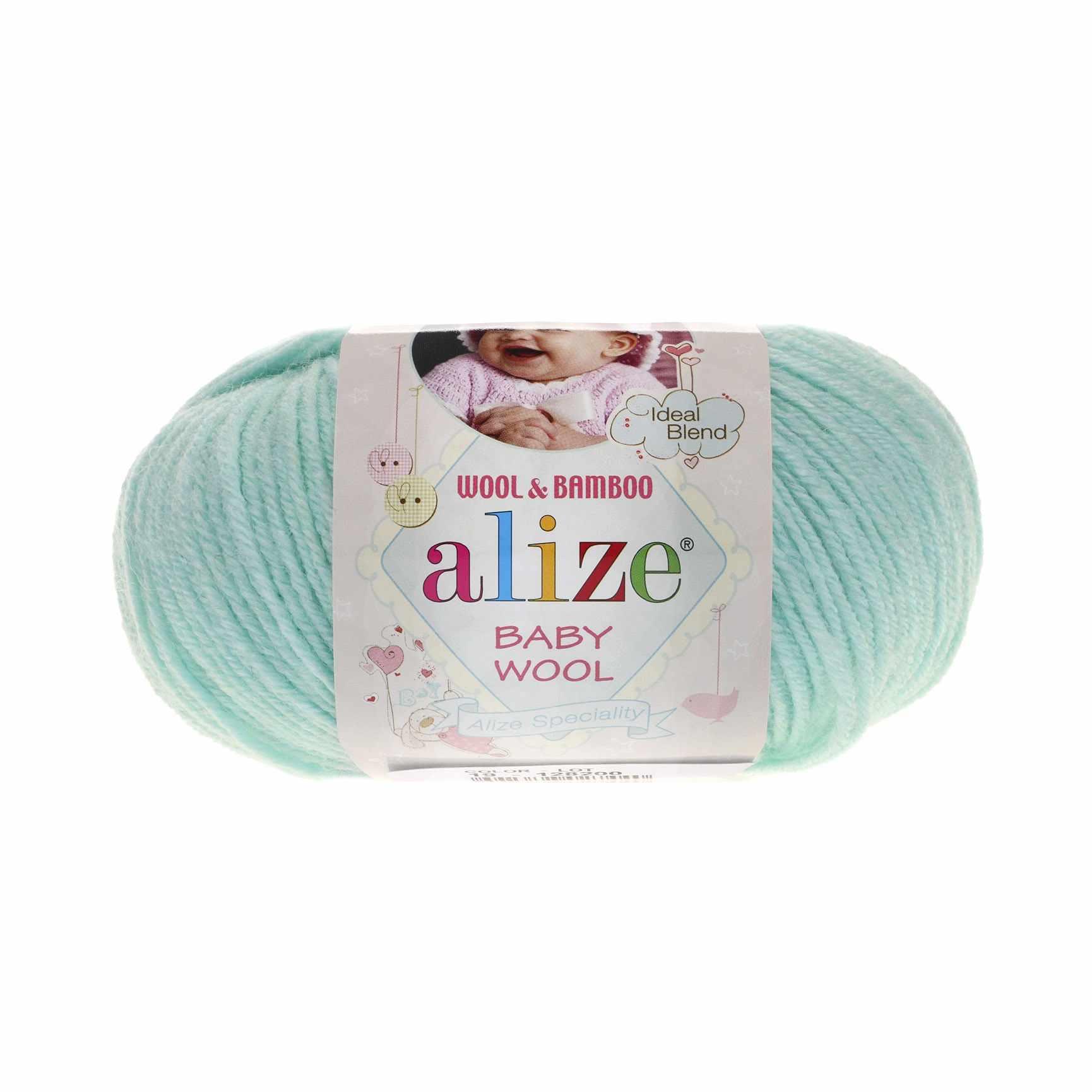 Пряжа Alize Baby Wool Цвет.19 Айсберг