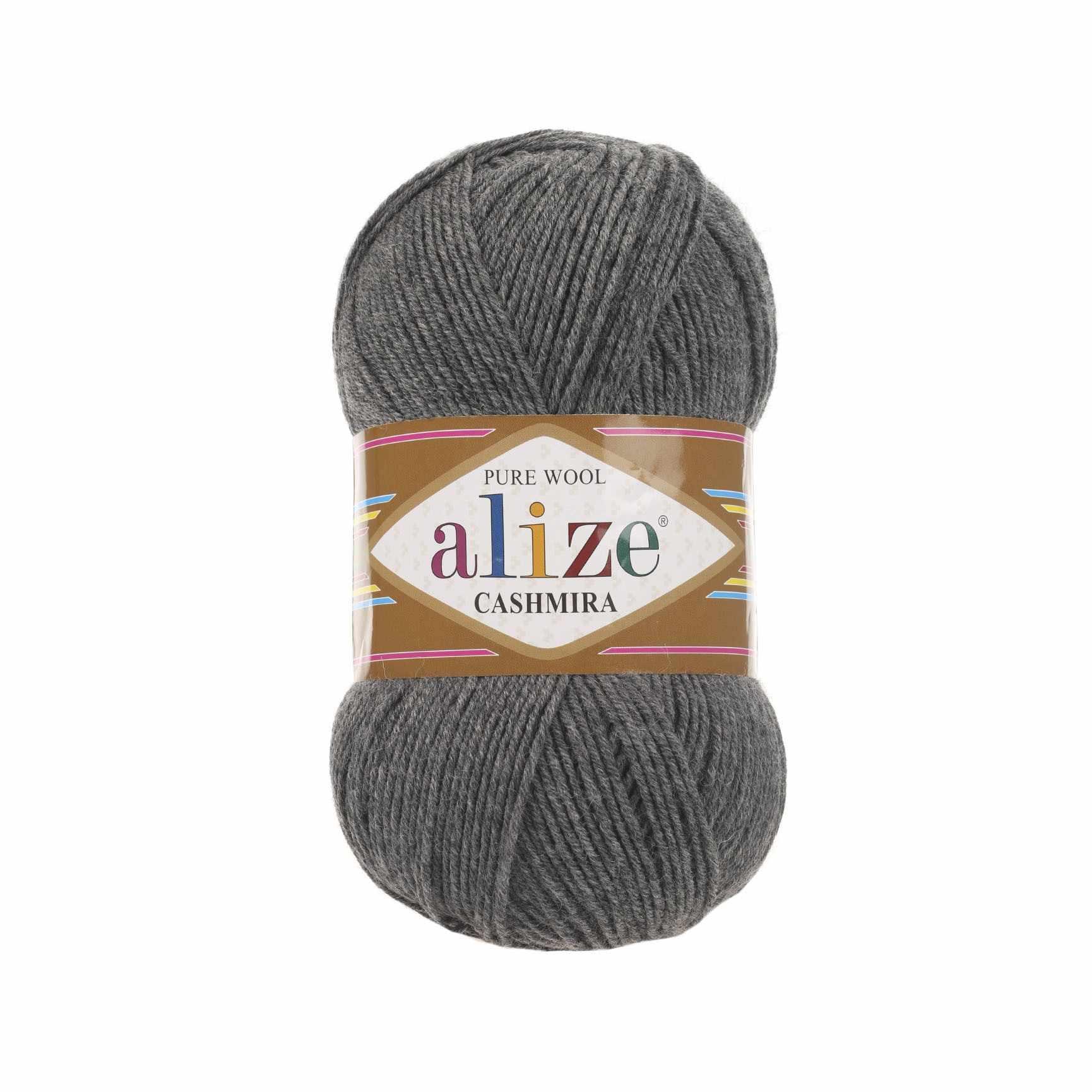 Пряжа Alize Cashmira Цвет.182 средне-серый меланж