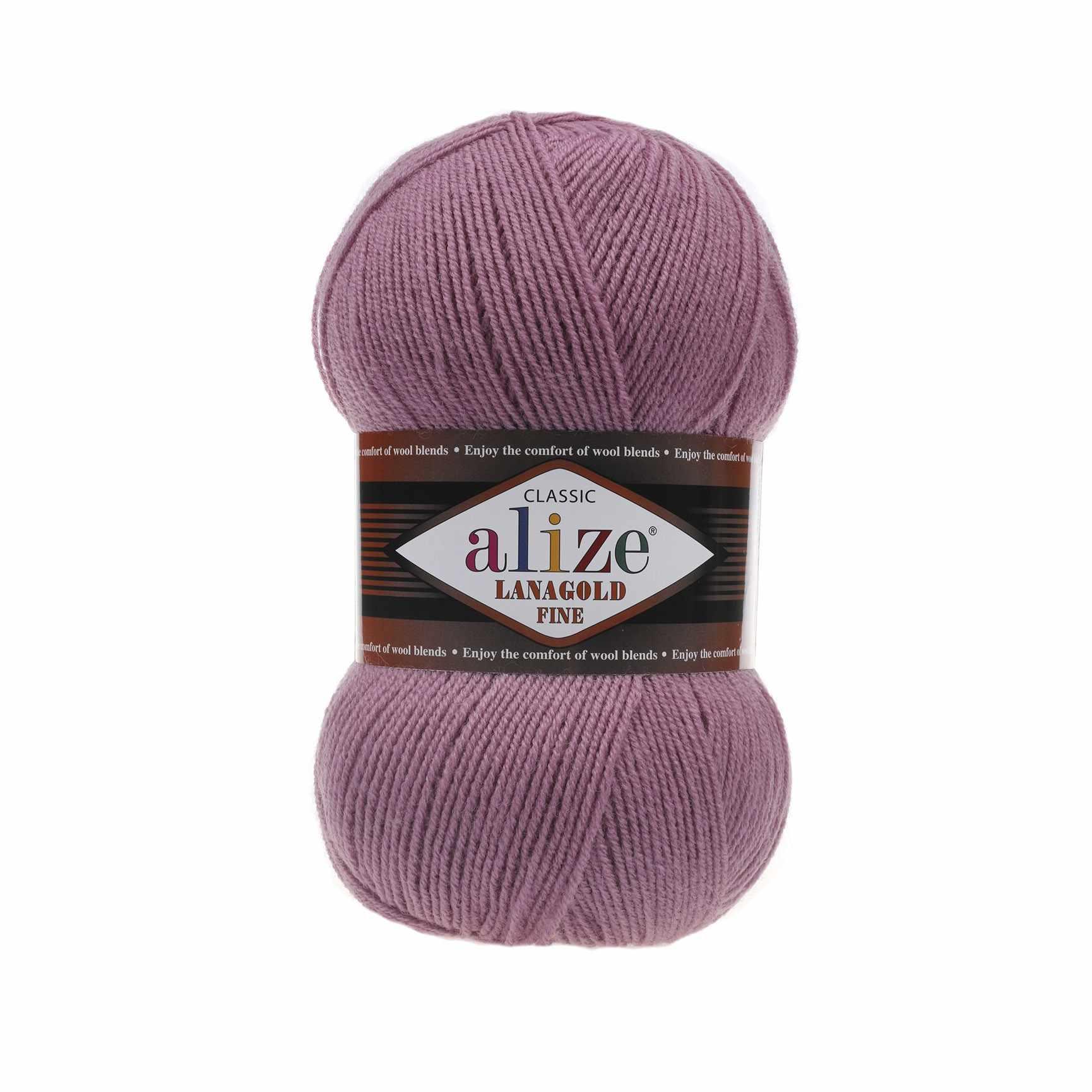 Пряжа Alize Lanagold Fine Цвет.28 Т.розовый