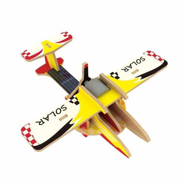 P260S Деревянные 3D пазлы Сельсеохозяйственный самолет, 14 деталей