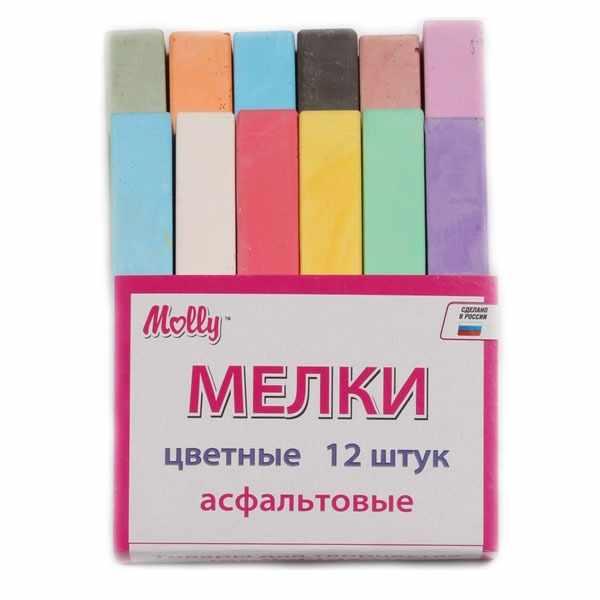 FSK012/8 Мелки цветные 12 штук асфальтовые