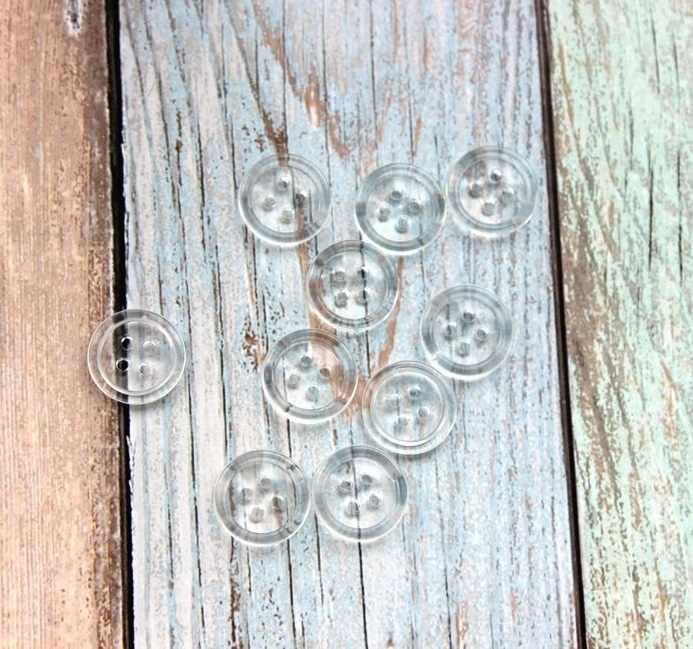 Пуговицы прозрачные для ног, 1,8 см