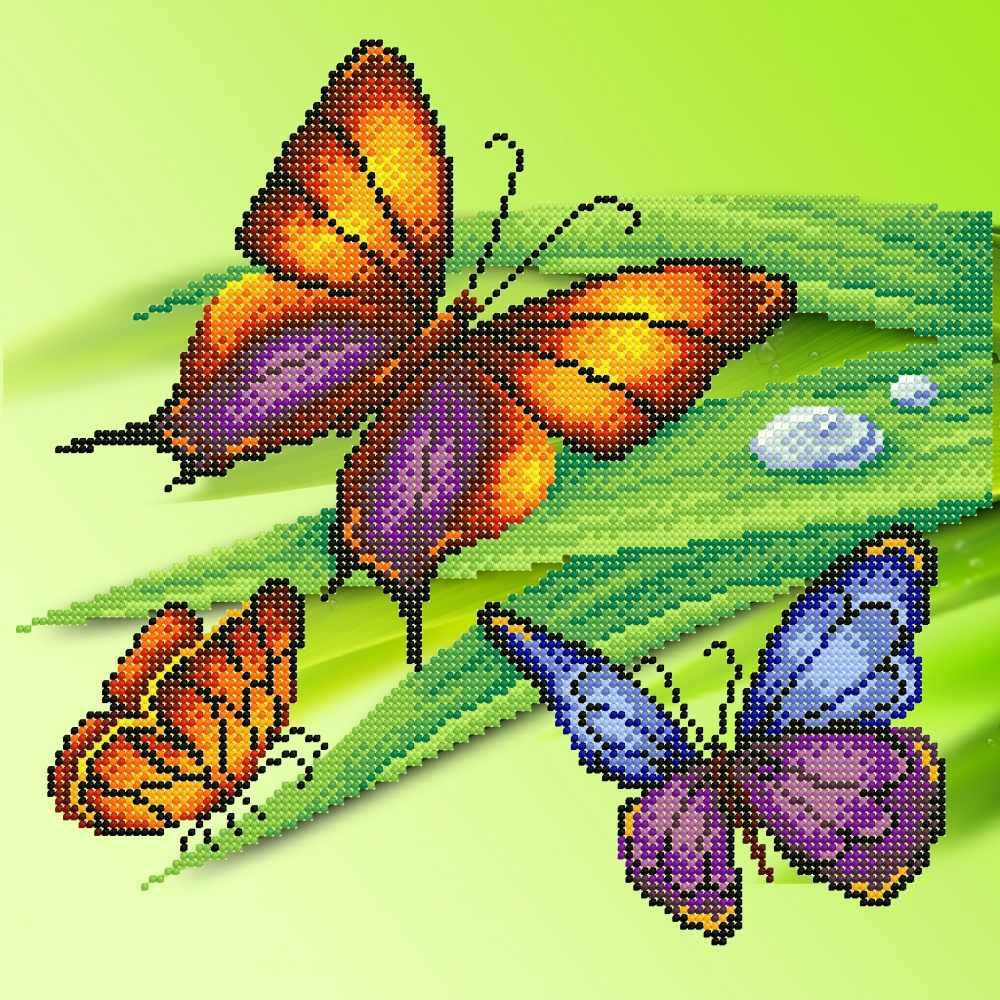 Г-140 Трио бабочек - схема для вышивания (М.П. Студия)