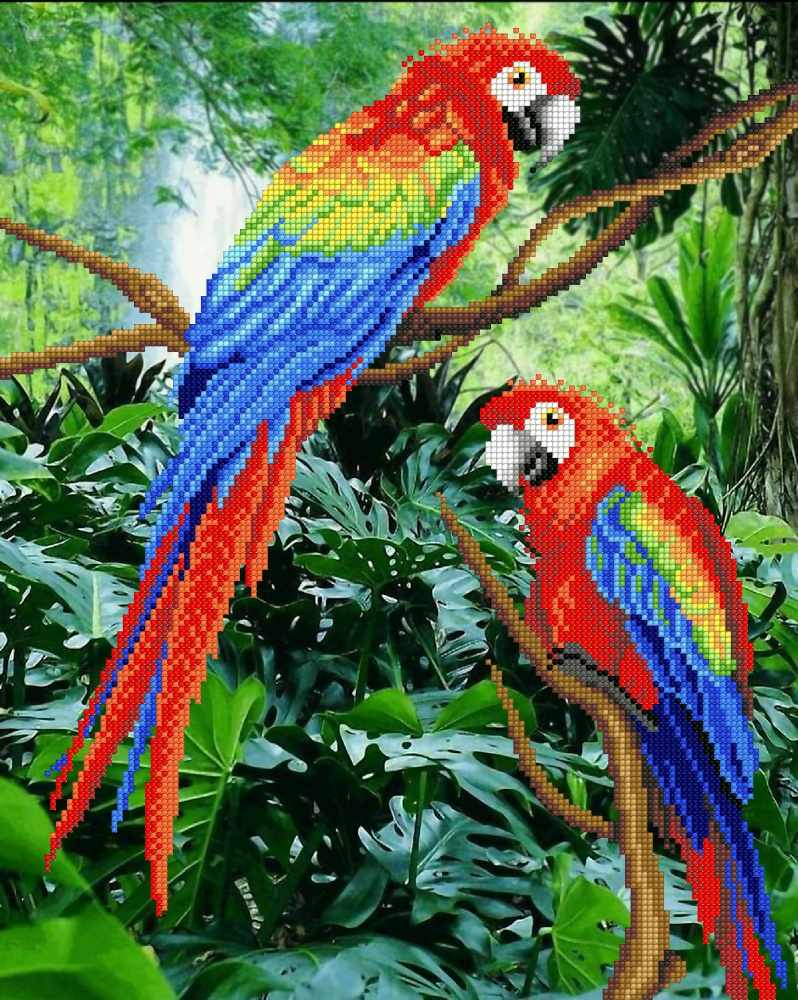 Г-133 Жители джунглей - схема для вышивания (М.П. Студия)