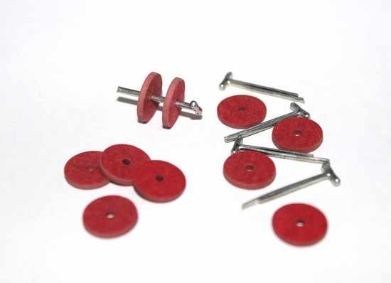 23532 Набор креплений фибра №12 для игрушек, 10 дисков (9 мм), 5 Т-образных шплинтов (1,6 см)