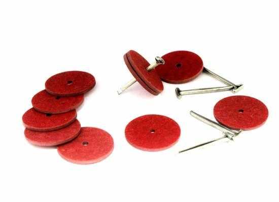 23535 Набор креплений фибра №22 для игрушек, 10 дисков (22 мм), 5 Т-образных шплинтов (2,0 см)