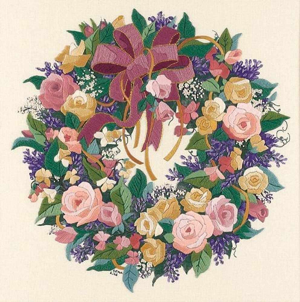 01537-DMS Венок из роз