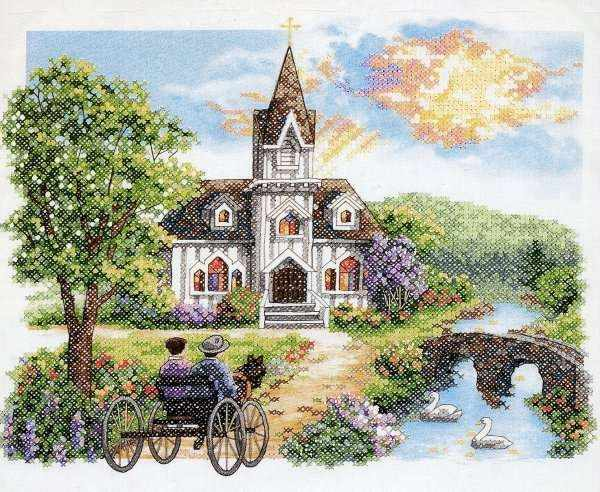 03227-DMS Деревенская церковь