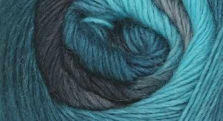 Пряжа Seam Rainbow Цвет.21 Сине-серо-лазурный
