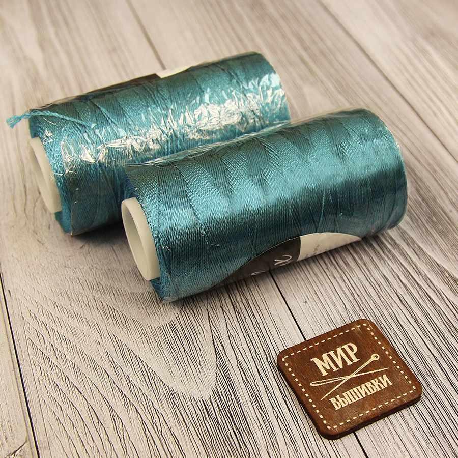 Пряжа Seam Sapfir Lux Цвет.858 Морская волна с синим отливом
