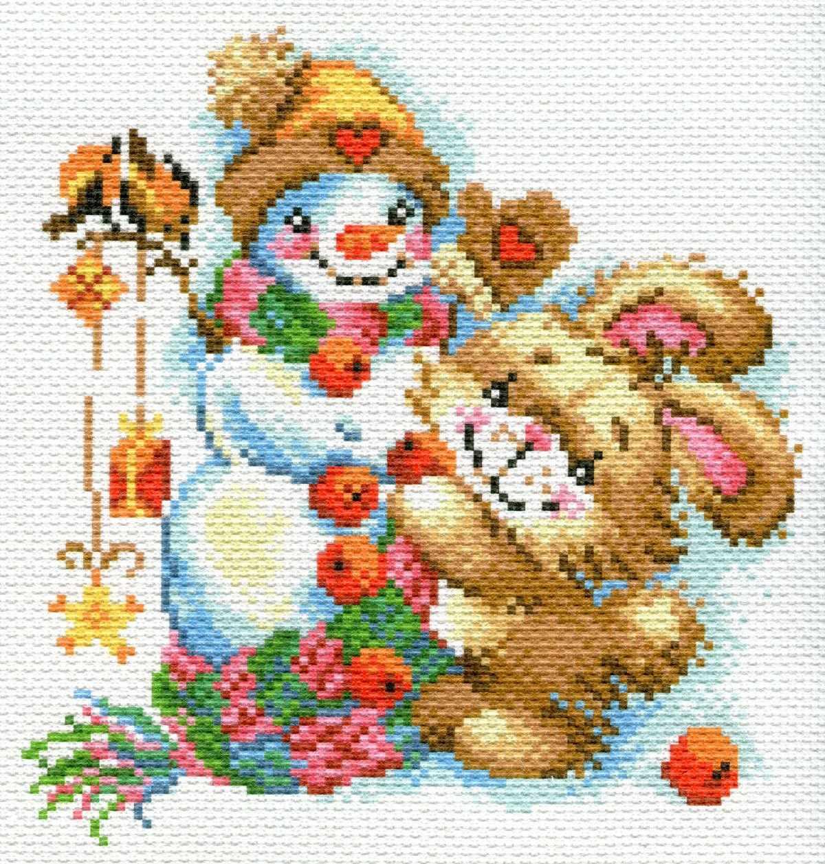 1779-1 Веселая зима - рисунок на канве (МП)