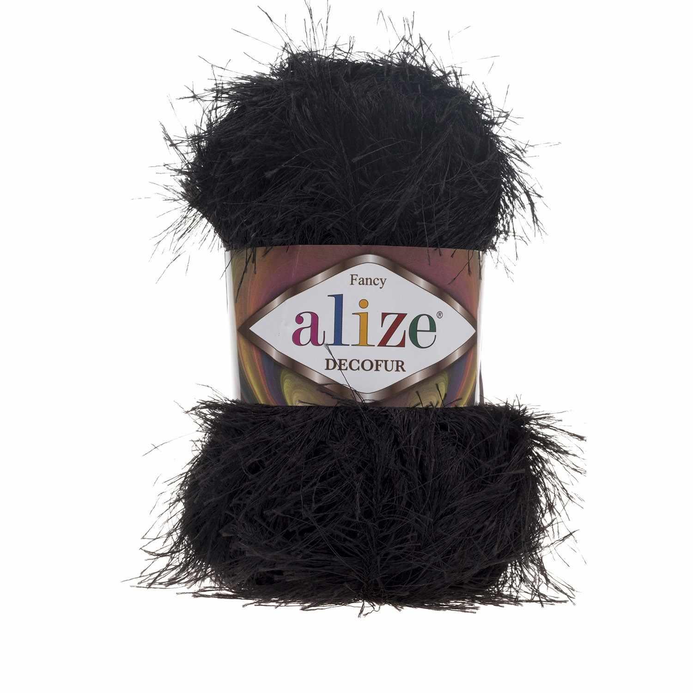 Пряжа Alize Decofur Цвет.60 Черный