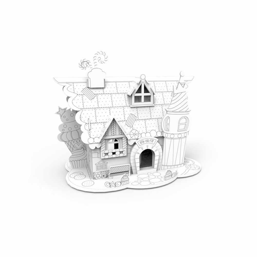 SFP-003 Пазл 3D для раскрашивания, домик