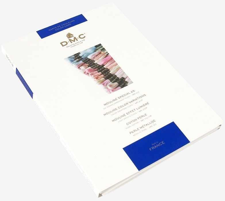 W100B Карта цветов мулине DMC