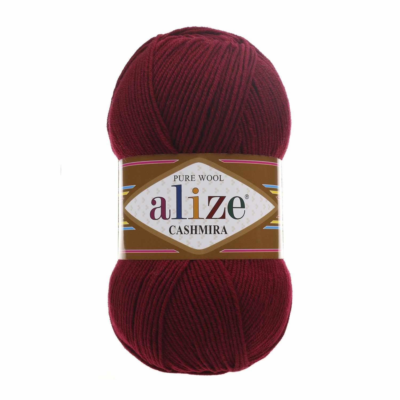 Пряжа Alize Cashmira Цвет.57 бордовый