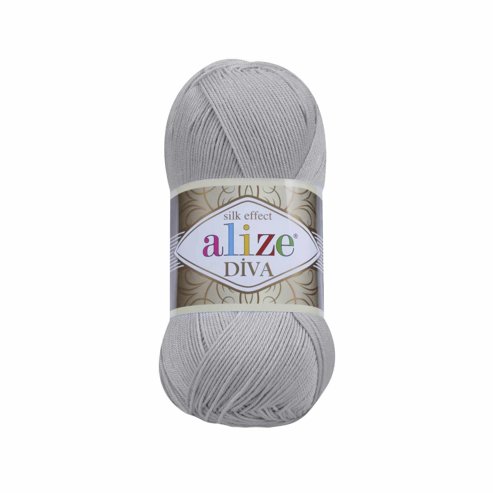 Пряжа Alize Diva Цвет.355 Жемчужный