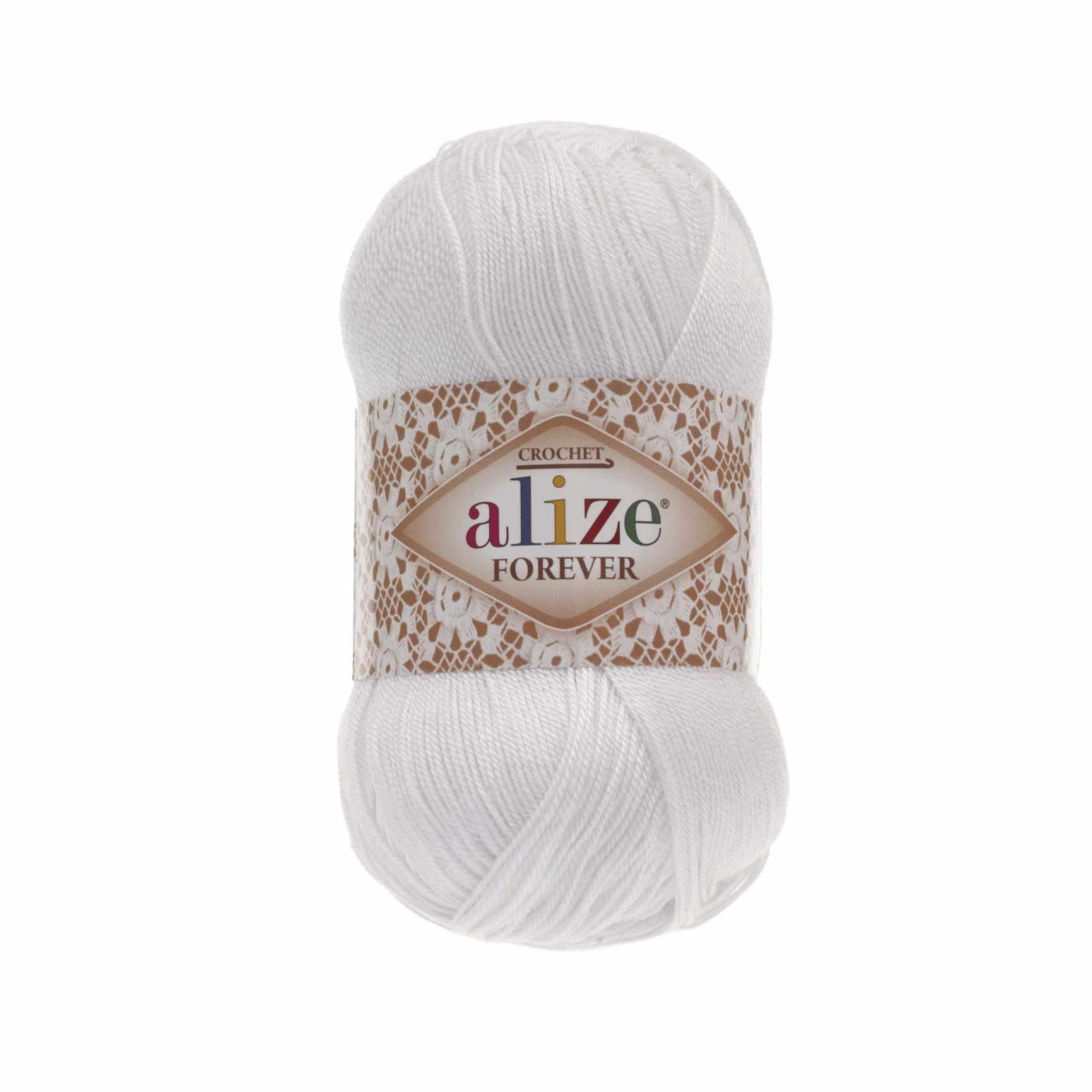Пряжа Alize Forever Цвет.55 Белый