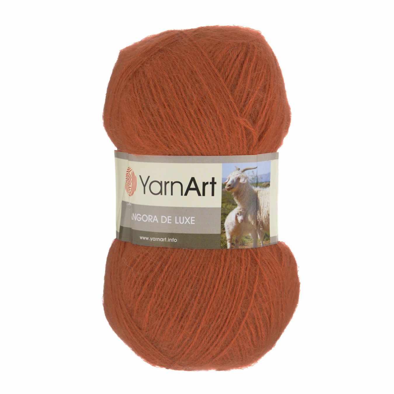 Пряжа YarnArt Angora De Luxe Цвет.3027 Рыжий