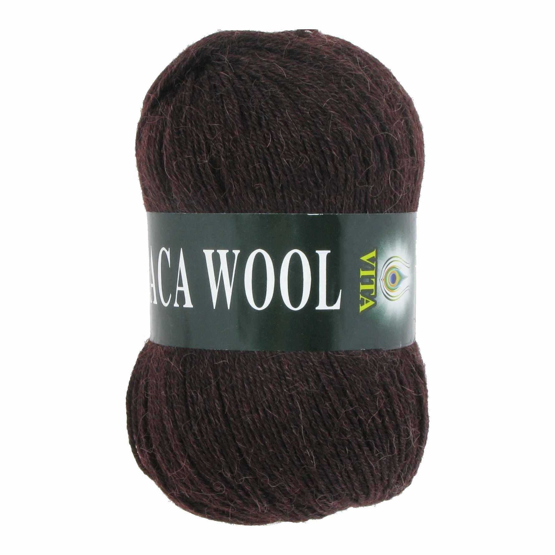 Пряжа VITA Alpaca Wool Цвет.2955 Коричневый
