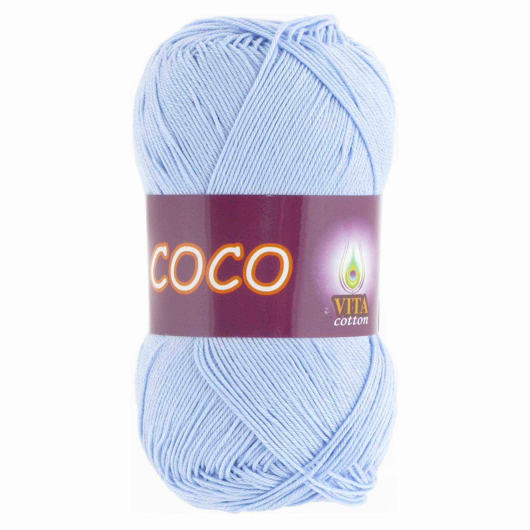 Пряжа VITA Coco Цвет.4323 Светло-голубой