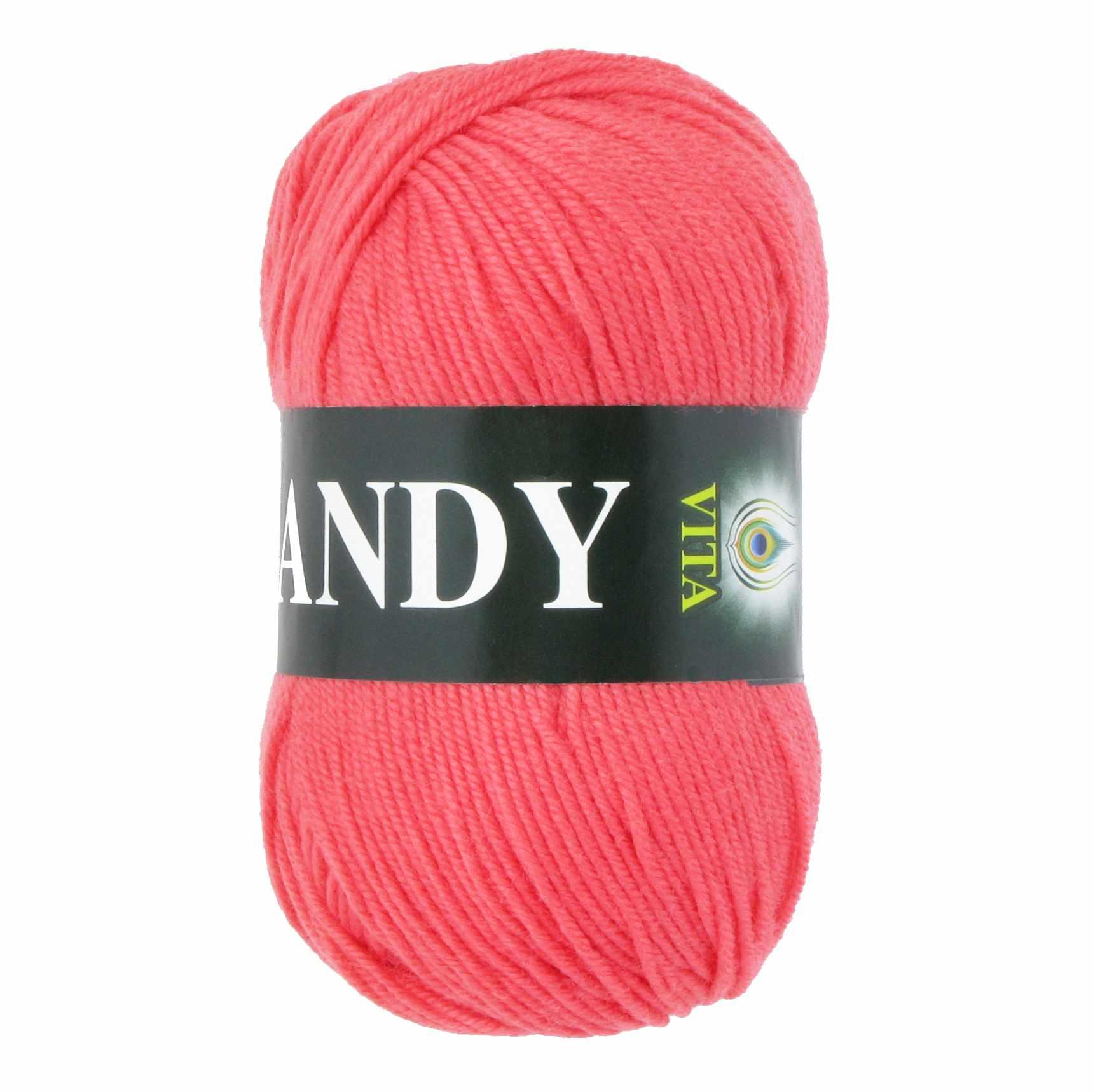 Пряжа VITA Candy Цвет.2520 Коралл