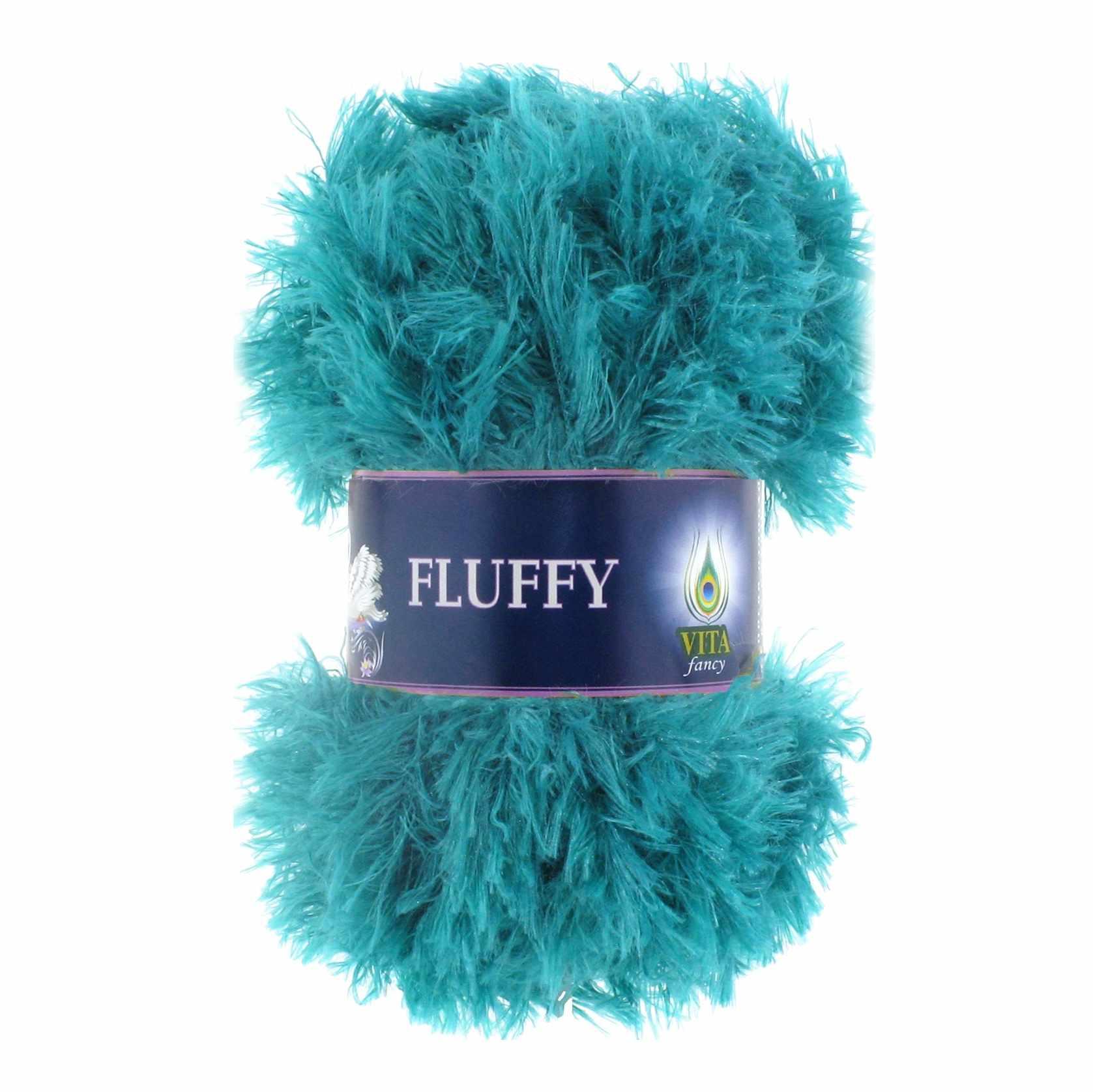 Пряжа VITA Fluffy Цвет.5469 Морская волна