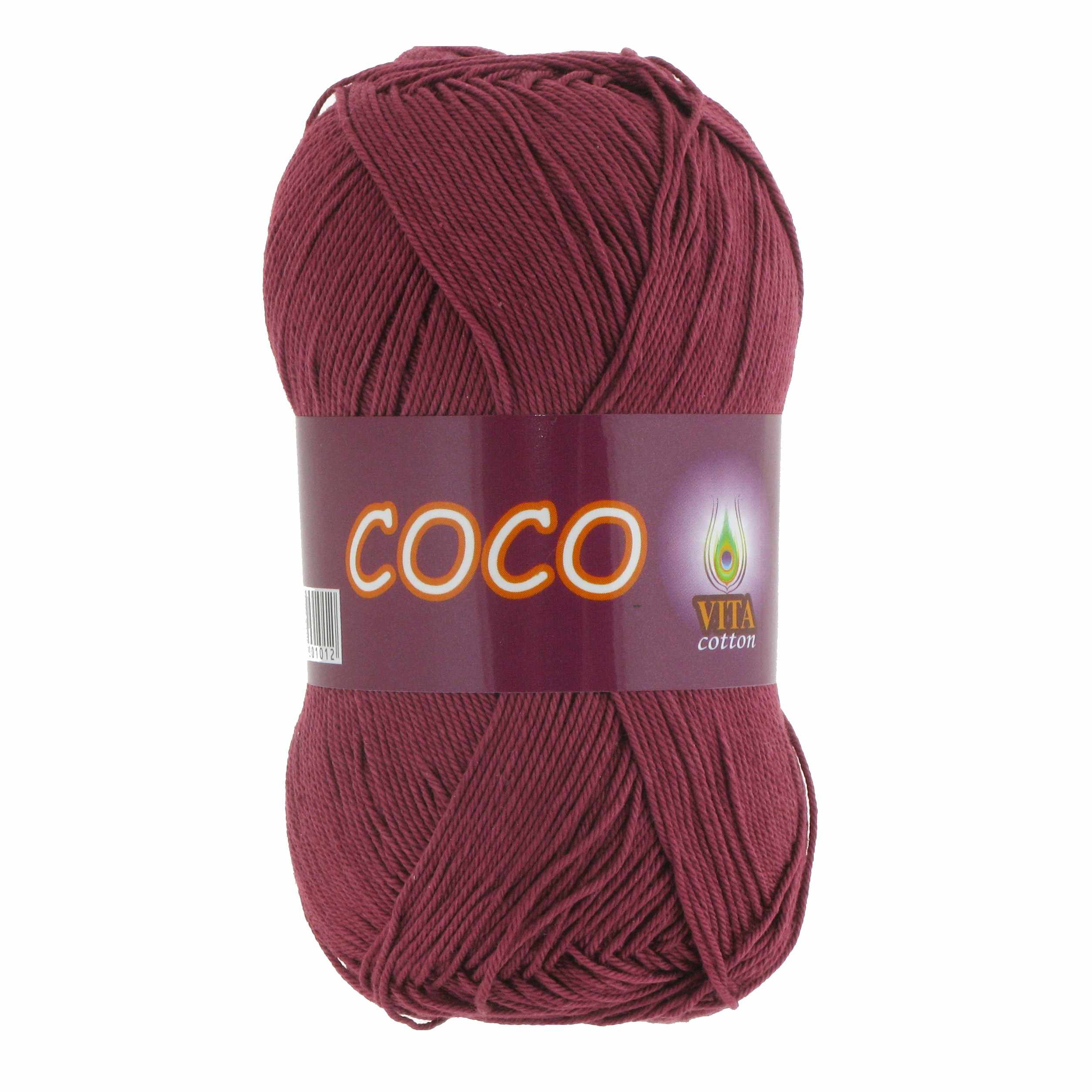 Пряжа VITA Coco Цвет.4325 Светло-вишневый
