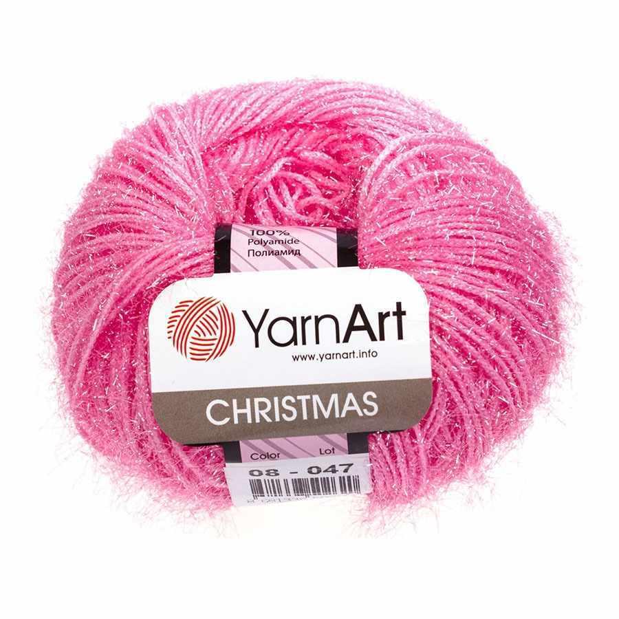 Пряжа YarnArt Christmas Цвет.008 Розовый