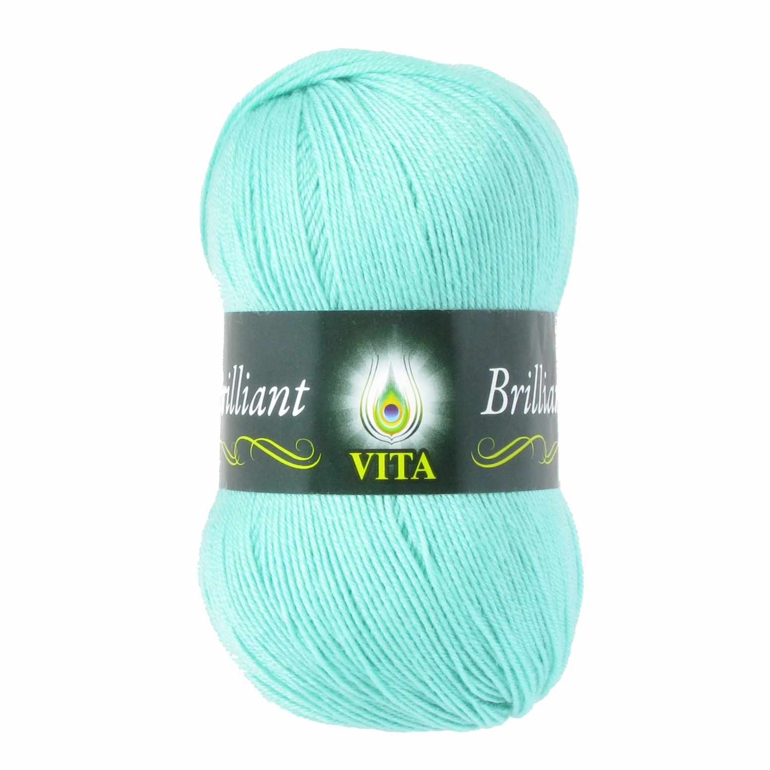 Пряжа VITA Brilliant Цвет.4992 Светло-зеленая  бирюза