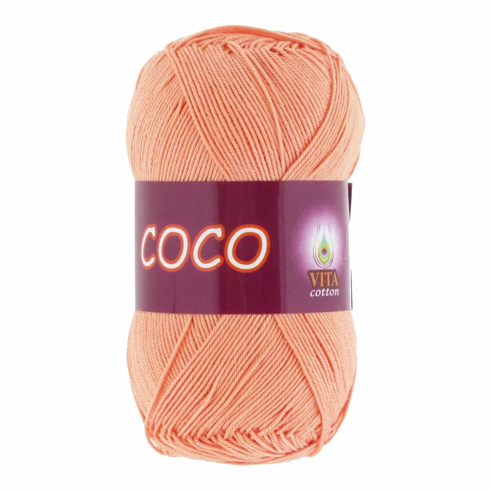 Пряжа VITA Coco Цвет.3883 Персиковый