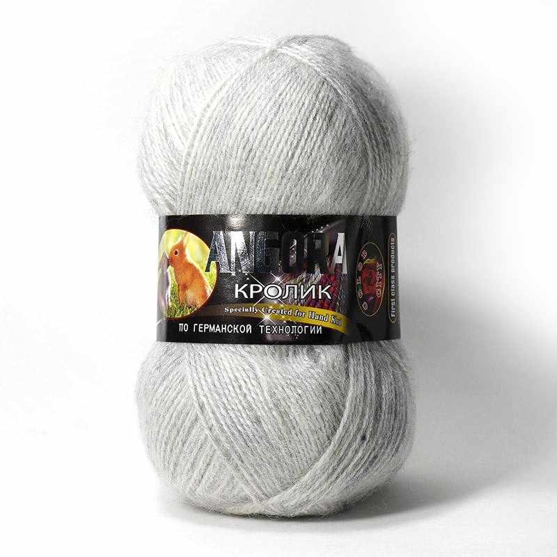 Пряжа Color City Angora кролик Цвет.29601 Светло серый