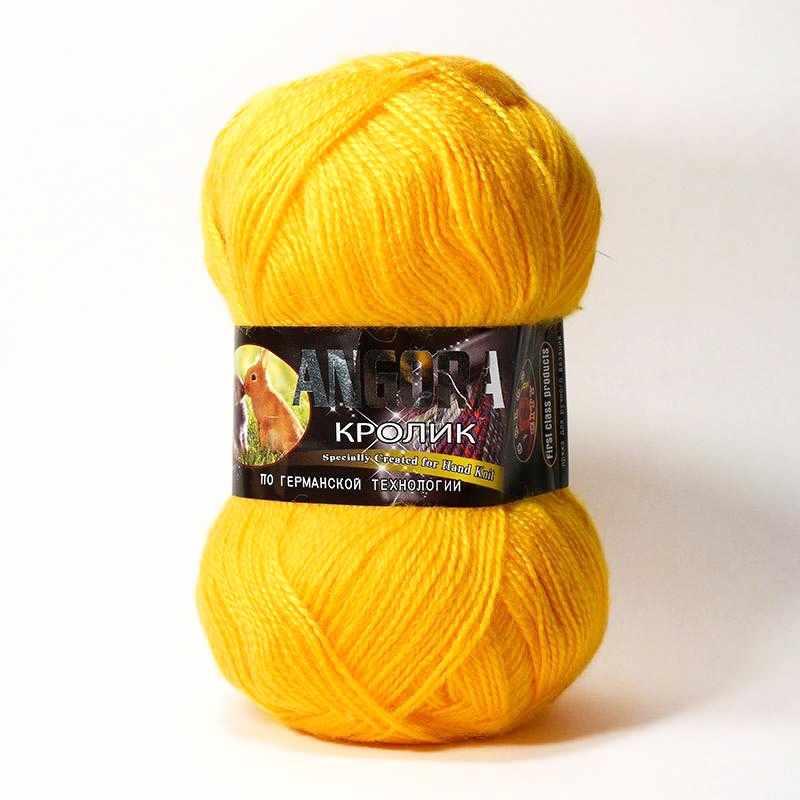 Пряжа Color City Angora кролик Цвет.2104 Желток