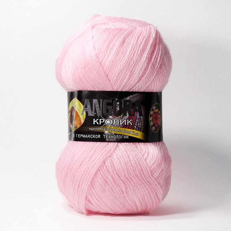 Пряжа Color City Angora кролик Цвет.2107 Ярко розовый