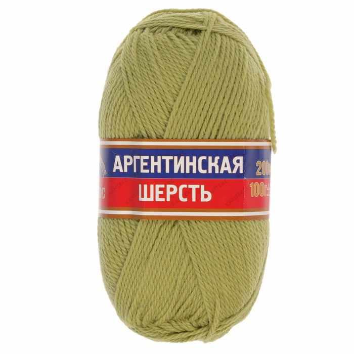 Пряжа Камтекс Аргентинская шерсть 100 г Цвет.189 Фисташковый