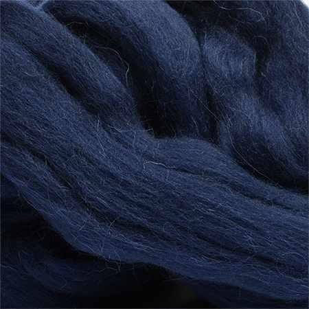 Пряжа Пехорка Шерсть для валяния полутонкая Цвет.04 Т.синий