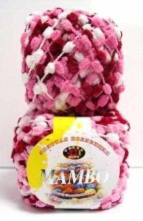 Пряжа Color City Mambo Цвет.16 Бело-розовый-алый