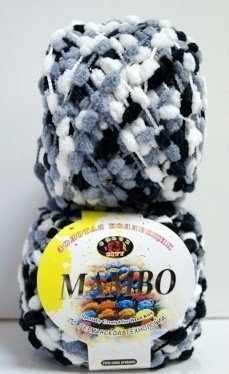 Пряжа Color City Mambo Цвет.30 Черно - бело - серый