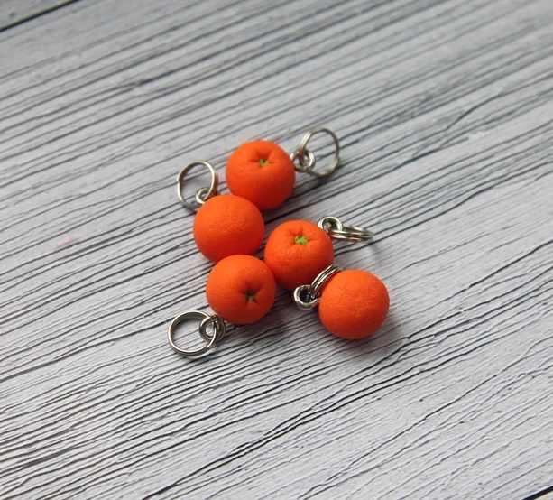 Маркеры для вязания. Апельсин