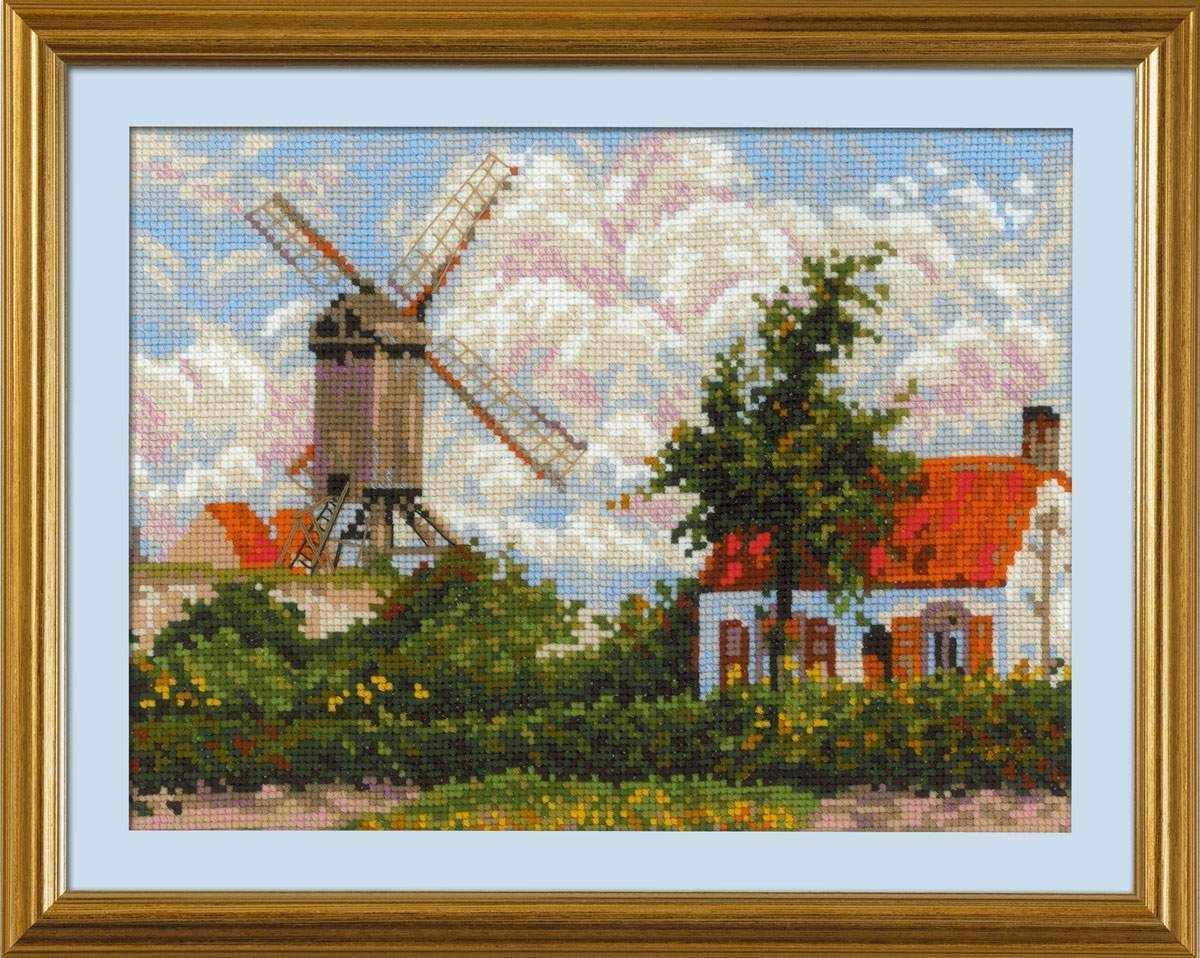"""1702 """"Ветряная мельница в Кноке"""" по мотивам картины К. Писсарро"""