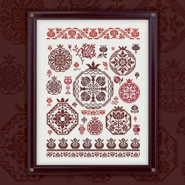 0002-ГК-С Гранатовый квакер - схема для вышивания (OwlForest)