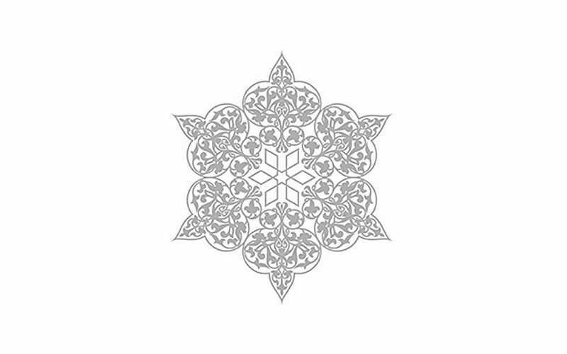 Трансфер декоративный (VS-029) серебро ''Ажурная салфетка''