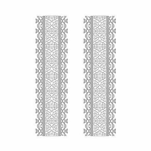 Трансфер декоративный (V-034) серебро ''Серебряное кружево''