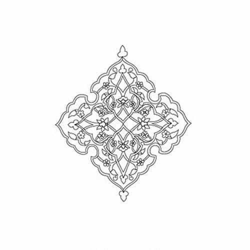 """Трансфер контурный (KNT-024) для стекла и керамики (запекаемый) """"Ромб"""""""