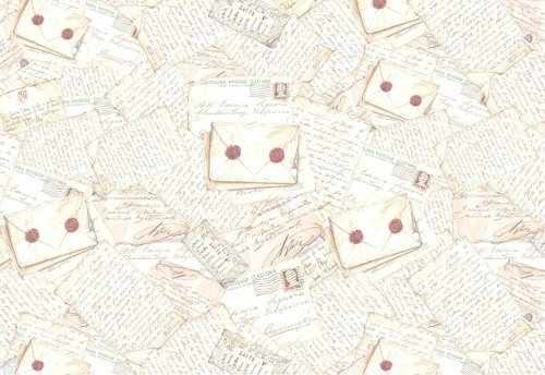 "DFS057  Бумага рисовая для декупажа Stamperia, ""Письма""  48х33 см, 28 гр"